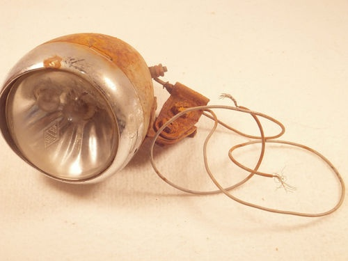 Vintage MILLER Bicycle LIGHT Lamp Made In England Antique Bike Accessory