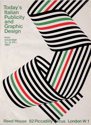 Franco Grignani — Today's Italian Publicity and Graphic Design (1967). This site has some other cool poster designs as   http://my-graphic-designs-collections.blogspot.com