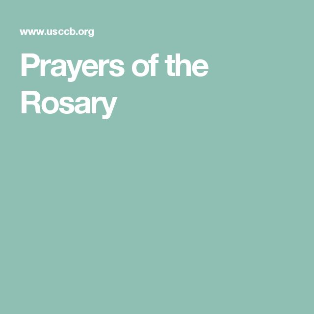 Prayers of the Rosary