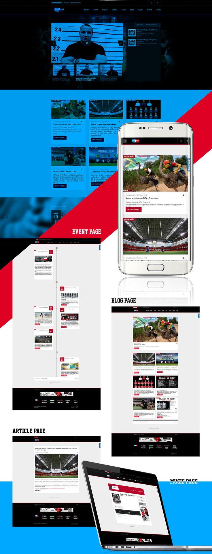 Strona internetowa PromoRUGBY - portfolio, EliAda
