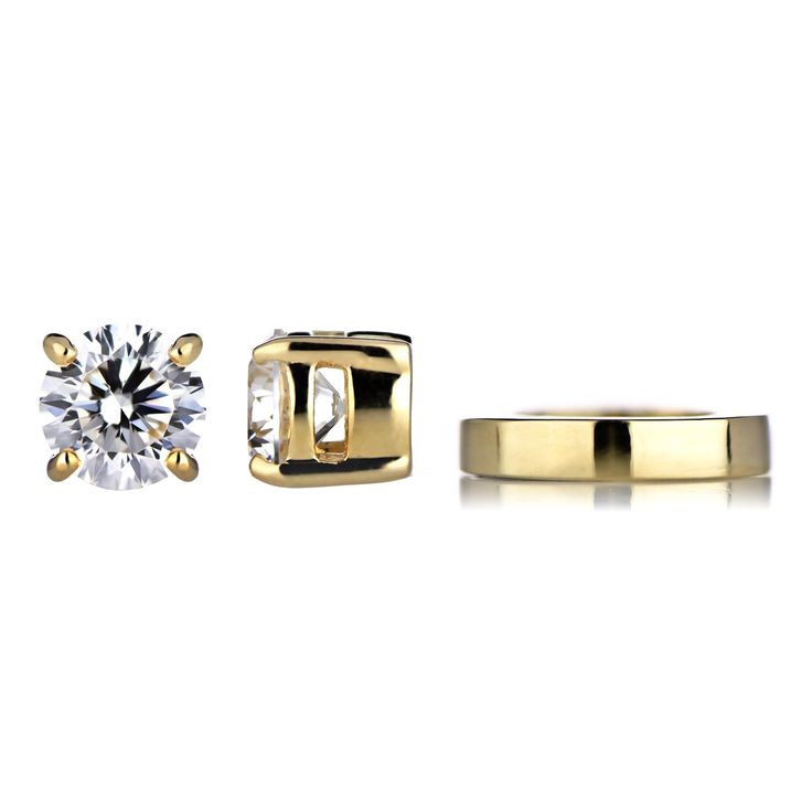 Keandra S Gold Non Pierced Magnetic Earrings Clear Cz Studs