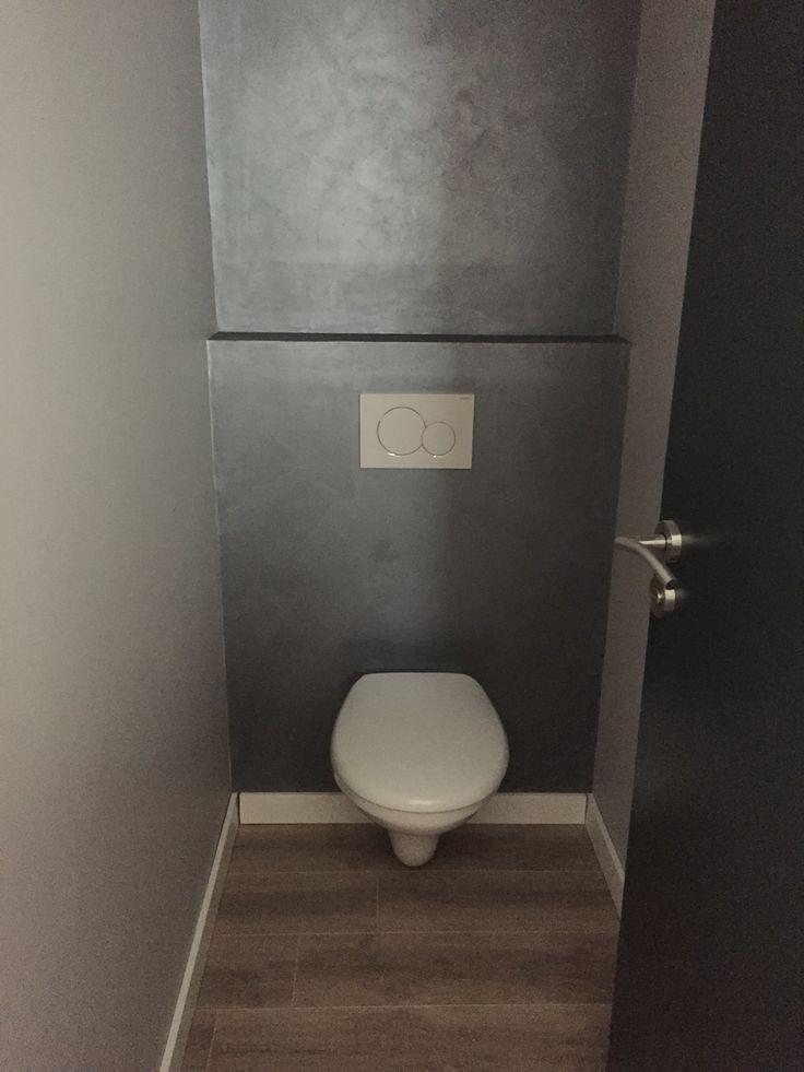WC suspendu et béton ciré