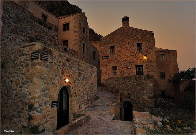 Monemvasia - when the night has come by Vasilis., via Flickr