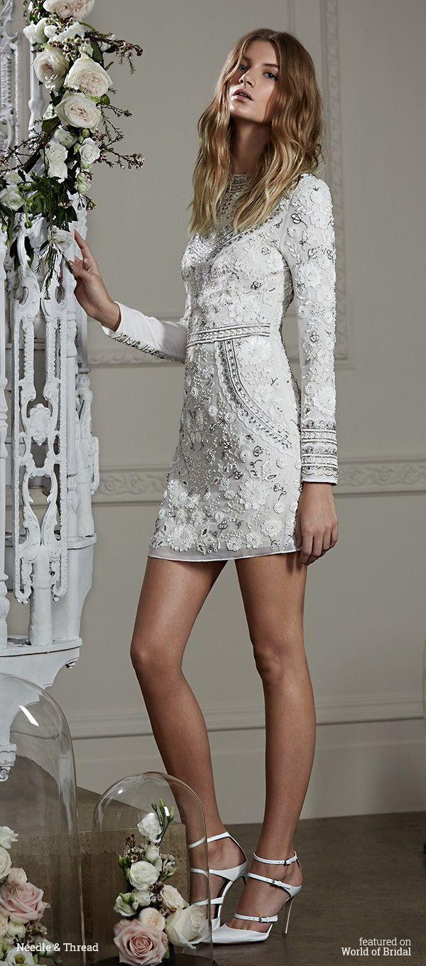 233 best Short & Tea Length Wedding Dresses images on Pinterest ...
