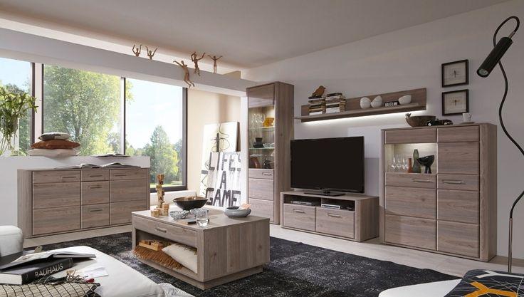 Light wood, Cream walls \ dark brown focus wall with window (or - möbel wohnzimmer modern