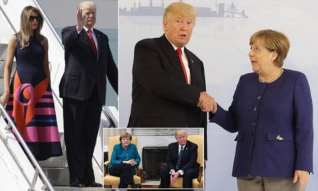 """#DailyMailUK .... """"The meeting between Trump and Putin is the most anticipated of the bilateral talks on the US president's schedule. The meeting with Merkel could also turn terse over trade and the Paris accord.""""... http://www.dailymail.co.uk/news/article-4671730/Trump-arrives-G20-showdown-Merkel-Putin.html"""