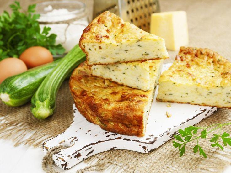 courgette, gruyère râpé, lait, oeuf, basilic