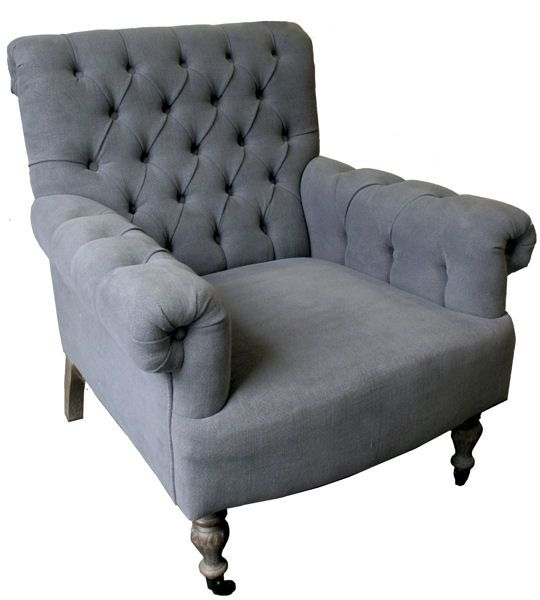 """Louis XV"" SAINT TROPEZ Salon Chair - Blue Musk French Dressing $1295 + other colours"