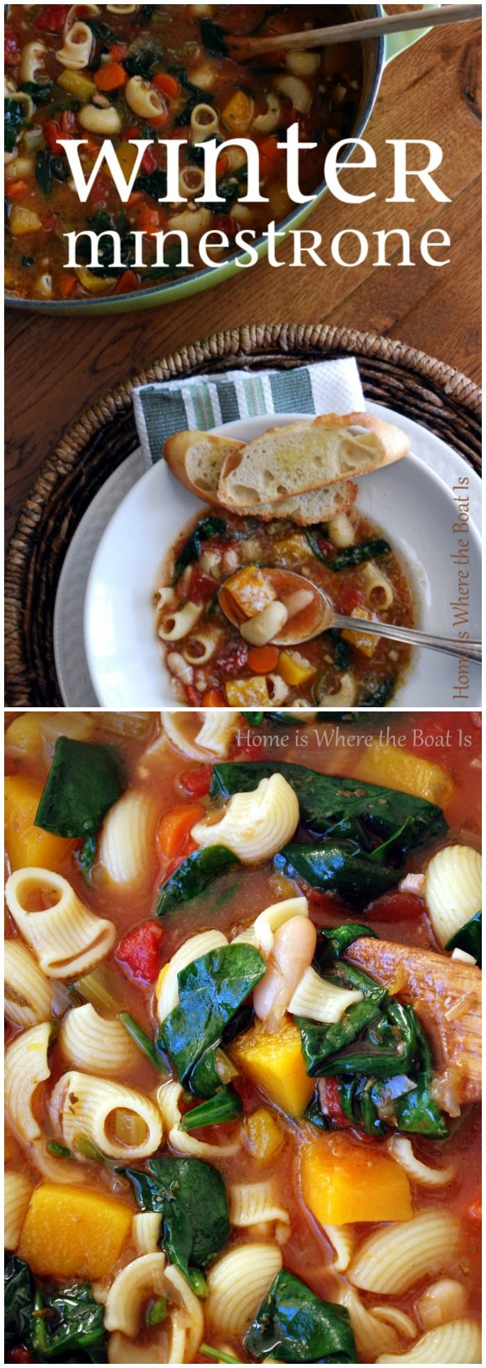 Ina Garten's Winter Minestrone! Foolproof, hearty, comforting, and the perfect soup for a cold winter day!