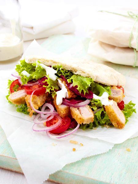 Üppig belegt: Schnitzel-Sandwich