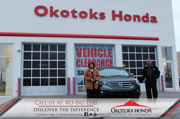The Visram Family and their Honda CRV - thanks to Kerry Arnold Lewis. Welcome to the OH Family! Call Okotoks Honda at 403.842.1100 for your vehicle maintenance needs!