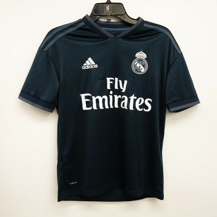 Adidas Size Youth Large Kids Real Madrid Fly Emirates Navy Jersey ...