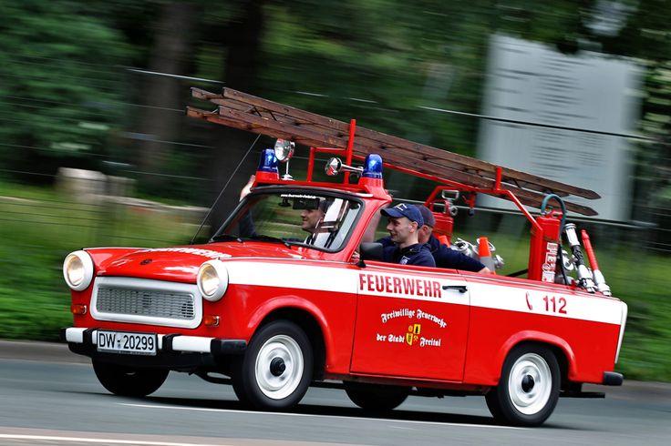Ein Trabant als Feuerwehrauto
