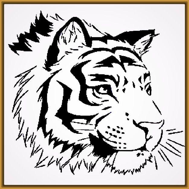 Resultado de imagen de dibujo facil de tigre blanco ...