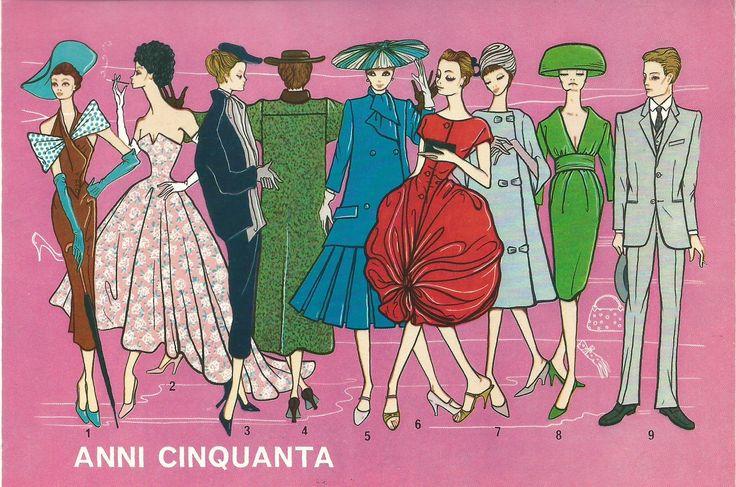 Linea abbigliamento anni 50.