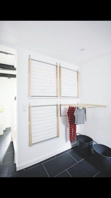 2 rekken boven elkaar voor wasruimte