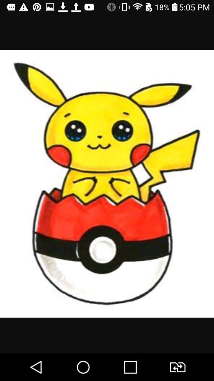 I Love Pikachu Cute Kawaii Drawings Kawaii Doodles Cute Drawings