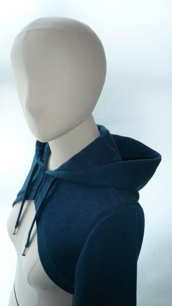 hoodie: Crop Hoodie, Boleros Patterns, Hoodie Sewing, Hoodie Patterns, Sewing Patterns Free, Boleros Jackets, Hoods Boleros, Free Patterns, Shrug Pattern