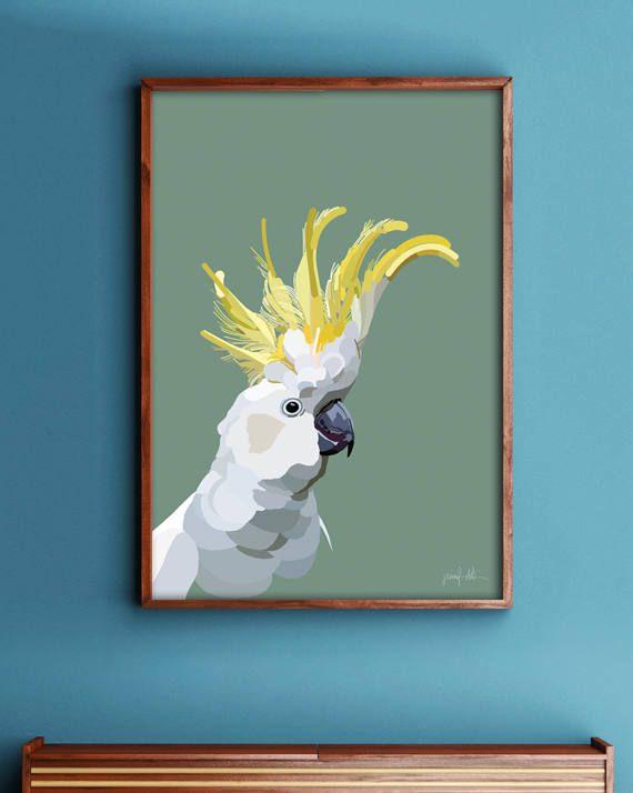 "Cockatoo printable wall art Parrot printable Bird wall art USE THE CODE ""HUNKYDORY"" TO RECEIVE 30% OFF!"