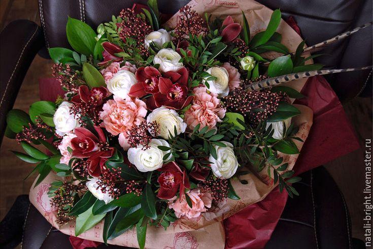 Купить Букет из живых цветов Стильный - букет цветов, букет из живых цветов, букет в подарок