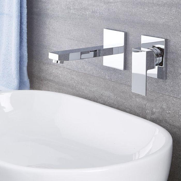 Kubix Chrome Wall Mounted Bathroom Faucet Bathroom Faucets Wall Mount Faucet Bathroom Bathroom Renovation Cost