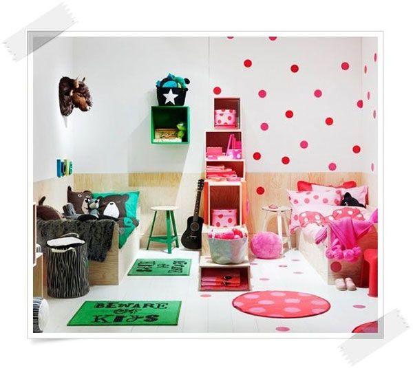 C mo decorar habitaciones compartidas por un ni o y una for Habitaciones de nina baratas