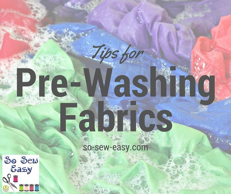 The way the fabric is cared for before you start a project has a profound influence on the result of the sewing project, this includes pre-washing fabric.