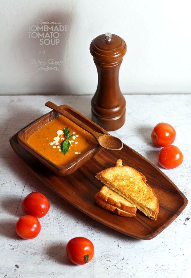 Homemade Tomato Soup with Grilled Cheese Sandwich | Sushi Bytes – Photo essays inspired by food and travel, by Websushidesign