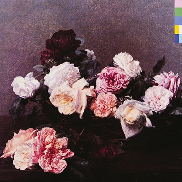 'Power, Corruption and Lies' New Order by Peter Saville (Colour On The Side Is The Alphabet Spelling New Order.)