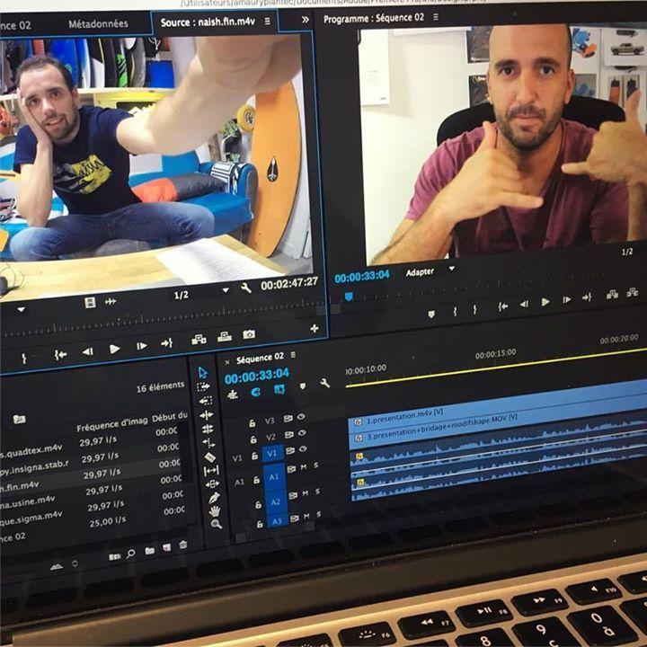 Nous vous préparons des vidéos exclusives dans les prochains jours avec Damien Girardin de Naish !