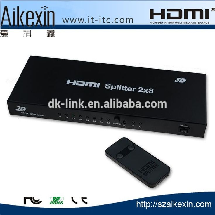 Check out this product on Alibaba.com App:HDMI Splitter 2x8 Switch support 3D,Full-HD,1080p,HDMI Splitter Switcher 2 in 8 out for HDTV, PC,DVD,PS3 https://m.alibaba.com/6zIJzm