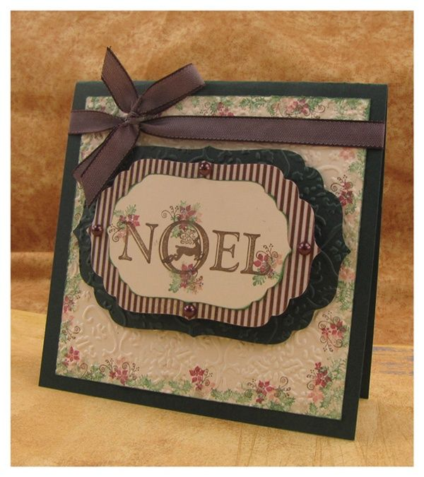 Noel Card by Jolene Slack with Tapestry Rubber Stamps