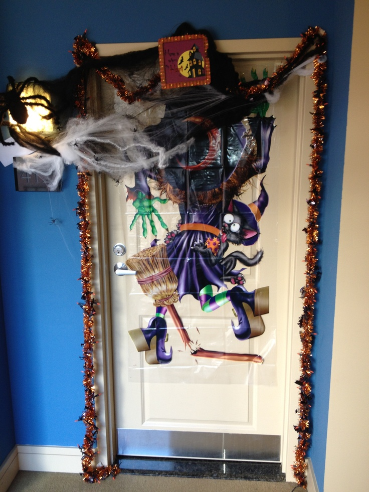 Model Halloween Office Door Decoration I Created These Paper Bats With
