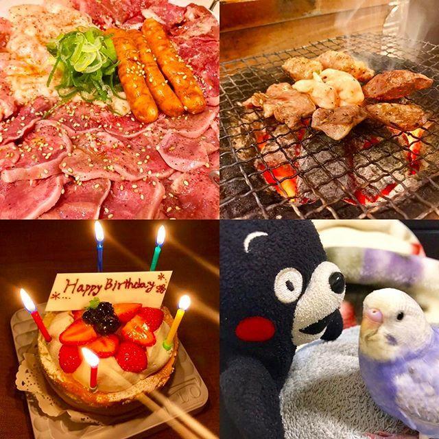 誕生日🎂🎉 * * 4/17は旦那さんの37歳の誕生日でした😊👏 奢るから何食べたい?って聞いたら、いつも行くホルモン屋さんがいいって言うので、リクエストにお答えして 行ってきました😋🍖 ほんといつも優しくしてくれて感謝しかありません😌🍀素敵な37歳でありますように💕 * * #誕生日 #おめでとう #焼肉 #晩ごはん #ホルモン #いちご #インコ #インコ部 #ちーちゃん🐥#くまモン #熊本  #dinner #happybirthday #yummy #beef #chicken  #cake #eat #food #strawberry #fruit #parrot #bird #thankyou #happy