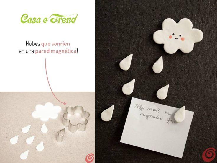 DIY-hacer imanes de nubes-make cloud magnets by yourself http://idoproyect.com/blog/con-la-cabeza-en-las-nubes/