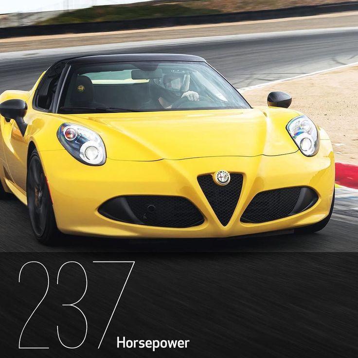 237 horsepower has never been this attractive.  #4CSpider #AlfaRomeo #Alfa #AwakenTheDrive #Convertible #ItalianStyle #ItalianCars #Auto #Automotive #Drive #AlfaNumeric #InstaCar #CarsOfInstagram