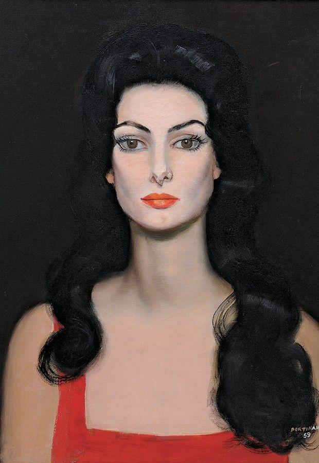 Retrato de Carmem Mayrink Veiga, 1959 by Candido Portinari (Brazilian 1903-1962)