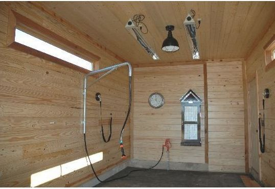 When creating the overall design for your barn, think ahead of time where you want to put your wash bays.