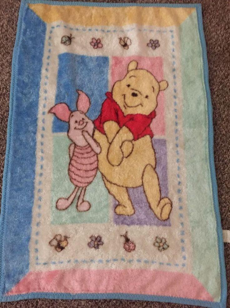Winnie Pooh BABY BLANKET Piglet Bear Butterflies pink plush blue ... : winnie the pooh baby quilt - Adamdwight.com