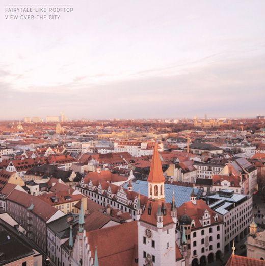Fairytale rooftops in Munich, Germany