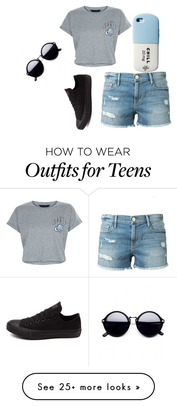 """""""Untitled #146"""" by jmaq22 on Polyvore featuring New Look, Frame Denim, Converse and Valfré"""