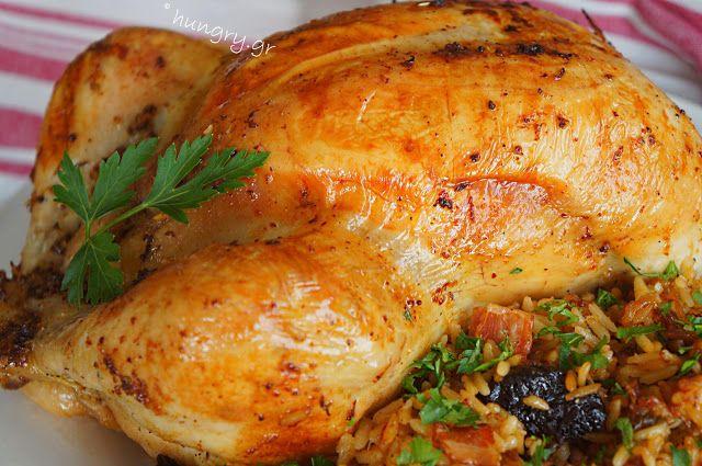 Kitchen Stori.es: Κοτόπουλο Ψητό Γεμιστό με Ρύζι, Τυρί Καπνιστό & Δα...
