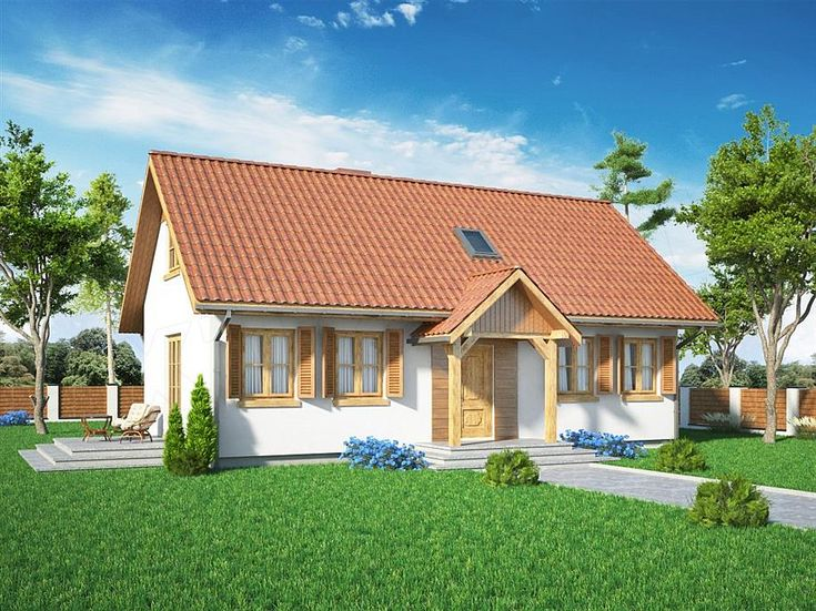 projekt Domek Bieszczadzki (018 SK) SLF1090