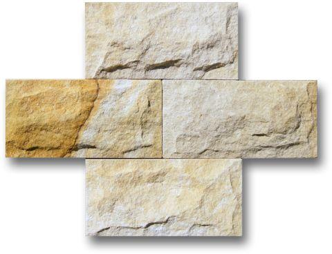 Verblender/Spaltriemchen, Schlesischer Sandstein, 30 X 15 Cm
