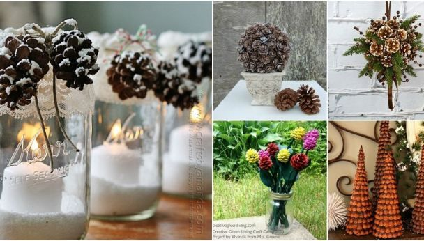 25 Creative Pinecone Crafts That Add Beauty To Your Fall And Winter Decor