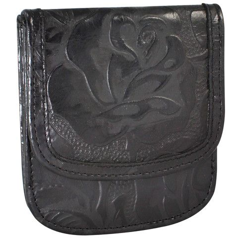 Tooled black leather Taxi Wallet from Alicia Klein!