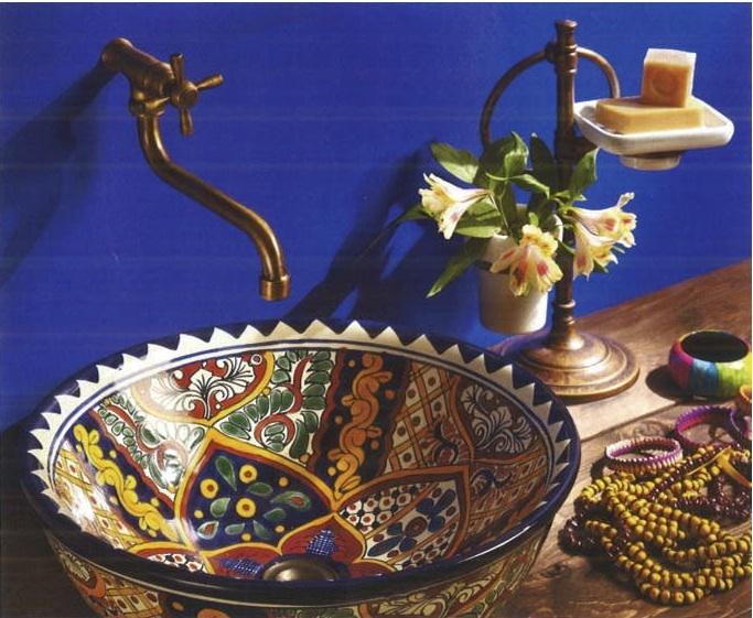 talavera sink by la tienda published in otthon magazine hungary mexican
