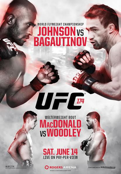 UFC 174 Official Event Poster (Demetrious Johnson v Bagautinov) - Vancouver 6/14/2014