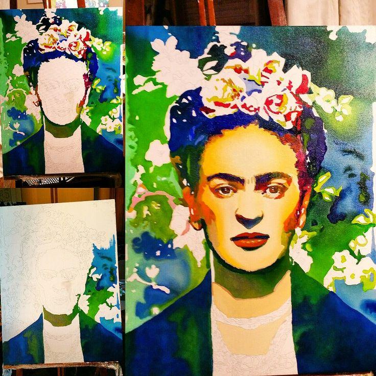 Passo a passo da minha obra em óleo sobre tela. .. 60 x 80 cm