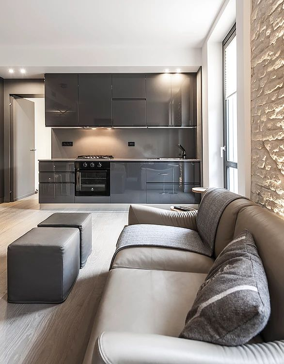 BRANDO concept  | kitchen cucina a vista interior design arredamento open space small house piccoli spazi arredi